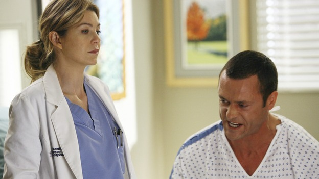 "GREY'S ANATOMY - ""Piece of My Heart"" - Addison returns to Seattle Grace to perform an operation and is taken aback by all of the changes in her old co-workers' lives. Meanwhile Meredith and Derek's clinical trial has its first patient, and Rebecca/Ava returns with shocking news for Alex, on ""Grey's Anatomy,"" THURSDAY, MAY 1 (9:00-10:01 p.m., ET) on the ABC Television Network. (ABC/SCOTT GARFIELD)ELLEN POMPEO, JASON O'MARA"