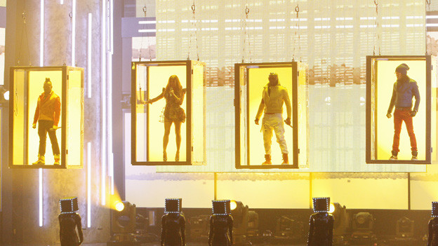 2010 AMERICAN MUSIC AWARDS¨ - THEATRE - The show broadcast live from the NOKIA Theatre L.A. LIVE on SUNDAY, NOVEMBER 21 (8:00-11:00 p.m., ET) on ABC. (ABC/TIM OGIER)BLACK EYED PEAS