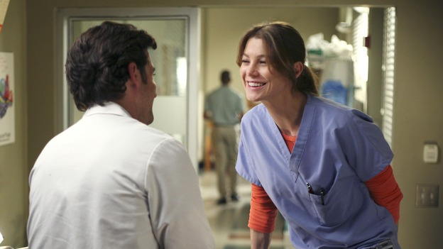 "GREY'S ANATOMY - ""From a Whisper to a Scream"" - A traumatic car accident fills the ER, Cristina has a crisis of conscience about her deceptive teamwork with Burke, and Izzie pushes the boundaries of her probation, on ""Grey's Anatomy,"" THURSDAY, NOVEMBER 23 (9:00-10:01 p.m., ET) on the ABC Television Network. (ABC/KAREN NEAL)PATRICK DEMPSEY, ELLEN POMPEO"