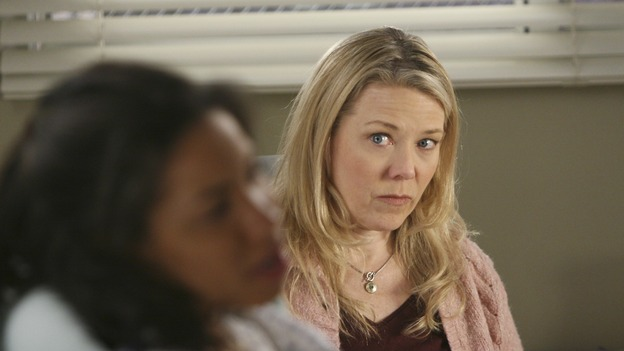 "GREY'S ANATOMY - ""Freedom"" - On the two-hour season finale of ""Grey's Anatomy,"" Meredith and Derek have one last shot at a successful outcome in their clinical trial, as the other surgeons work together to free a boy from a hardening block of cement. Meanwhile, Izzie helps Alex care for an ailing Rebecca, and Lexie discovers critical information about George's intern status, on ""Grey's Anatomy,"" THURSDAY, MAY 22 (9:00-11:00 p.m., ET) on the ABC Television Network. (ABC/MICHAEL DESMOND)JURNEE SMOLLETT, KATHERYN MEISLE"