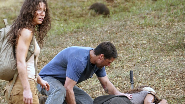 "LOST - ""Through the Looking Glass"" - Jack and the castaways begin their efforts to make contact with Naomi's rescue ship, on the season finale of ""Lost,"" WEDNESDAY, MAY 23 (9:00-11:00 p.m., ET), on the ABC Television Network. (ABC/MARIO PEREZ)EVANGELINE LILLY, MATTHEW FOX, TANIA RAYMONDE"