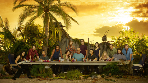 "LOST - ""Lost"" stars Zuleikha Robinson as Ilana, Nestor Carbonell as Richard Alpert, Ken Leung as Miles, Naveen Andrews as Sayid, Evangeline Lilly as Kate, Josh Holloway as Sawyer, Terry O'Quinn as Locke, Matthew Fox as Jack, Daniel Dae Kim as Jin, Yunjin Kim as Sun, Emilie de Ravin as Claire, Michael Emerson as Ben, Jorge Garcia as Hurley and Jeff Fahey as Frank Lapidus. (ABC/BOB D'AMICO)"