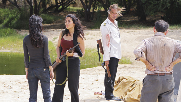 "LOST - ""The Substitute"" - Locke goes in search of help to further his cause, on ""Lost,"" TUESDAY, FEBRUARY 16 (9:00-10:00 p.m., ET) on the ABC Television Network. (ABC/MARIO PEREZ)YUNJIN KIM, ZULEIKHA ROBINSON, JEFF FAHEY, MICHAEL EMERSON"