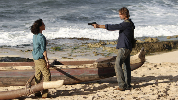 LOST - &quot;Recon&quot; - Locke tasks Sawyer with a mission, on &quot;Lost,&quot; TUESDAY, MARCH 23 (9:00-10:00 p.m., ET) on the ABC Television Network.  (ABC/MARIO PEREZ)SHEILA KELLEY, JOSH HOLLOWAY