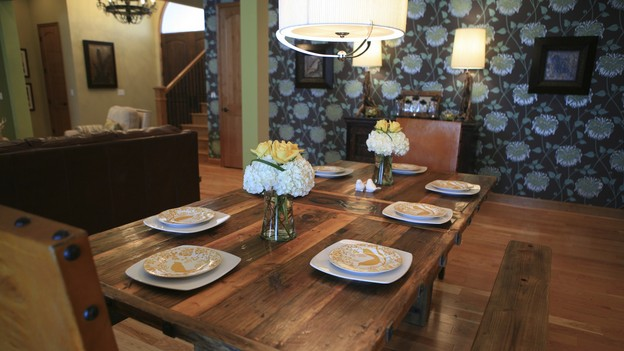 "EXTREME MAKEOVER HOME EDITION - ""Hampton Family,"" - Dining Room, on ""Extreme Makeover Home Edition,"" Sunday, October 4th on the ABC Television Network."