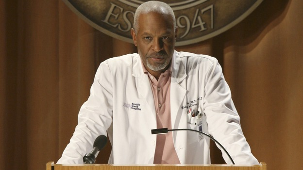 "GREY'S ANATOMY - ""Here Comes the Flood"" - The Chief lays out his new rules for Seattle Grace Hospital, on ""Grey's Anatomy,"" THURSDAY, OCTOBER 9 (9:00-10:01 p.m., ET) on the ABC Television Network. (ABC/DANNY FELD) JAMES PICKENS JR."