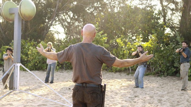 "LOST - ""The Package"" - Sun and Jin desperately continue their search for one another, and Locke confronts his enemy, on ""Lost,"" TUESDAY, MARCH 30 (9:00-10:02 p.m., ET) on the ABC Television Network. (ABC/MARIO PEREZ)TERRY O'QUINN, FRED KOEHLER"