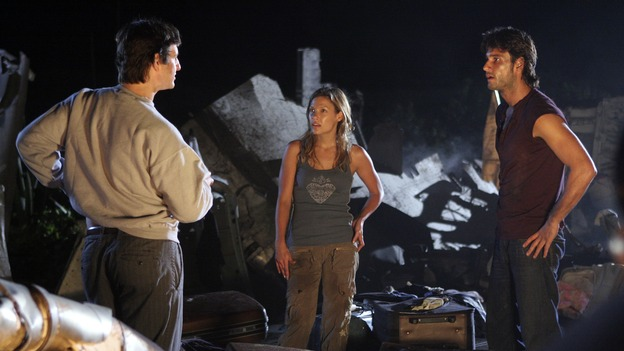 "LOST - ""Expos"" - Hurley begins to suspect that Sawyer may be involved in an island mystery surrounding two fellow survivors, and Sun learns the truth about her past kidnapping attempt by ""The Others,"" on ""Lost,"" WEDNESDAY, MARCH 28 (10:00-11:00 p.m., ET), on the ABC Television Network. (ABC/MARIO PEREZ)WILLIAM MAPOTHER, KIELE SANCHEZ, RODRIGO SANTORO"