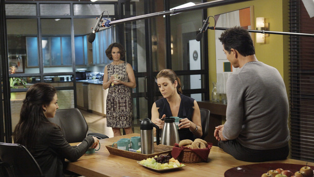 PRIVATE PRACTICE - &quot;Andromeda&quot; - Sam tries to take care of his sister, Corinne, but her mental condition makes that nearly impossible; Sheldon learns that Amelia has life-changing news; the flirtation between Addison and Jake continues, and Cooper rejects Charlotte's suggestion to seek outside help with Erica's care, on &quot;Private Practice,&quot; THURSDAY FEBRUARY 23 (10:01-11:00 p.m., ET) on the ABC Television Network.  (ABC/KELSEY MCNEAL)CATERINA SCORSONE, AMY BRENNEMAN, KATE WALSH, BENJAMIN BRATT
