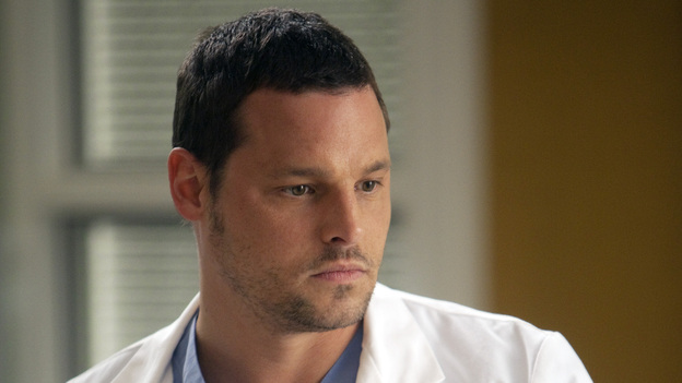 GREY'S ANATOMY - &quot;Unaccompanied Minor&quot; - News of Meredith's dishonesty in the clinical trial comes to light, leading to unanticipated consequences for both her and others. Cristina finds herself in a compromising situation, which forces her to decide between her career and her relationship. Meanwhile, Owen posts his decision for chief resident and Teddy makes a surprising choice regarding her love life -- and her future -- on the Season Finale of Grey's Anatomy, THURSDAY, MAY 19 (9:00-10:01 p.m., ET) on the ABC Television Network. (ABC/RANDY HOLMES)JUSTIN CHAMBERS