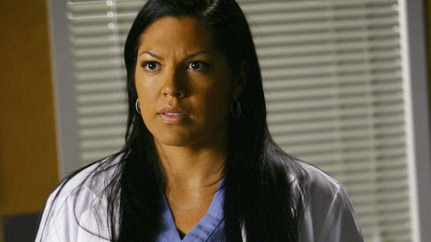 "GREY'S ANATOMY - ""Dream a Little Dream of Me"" - Dr. Callie Torres, on ""Grey's Anatomy,"" THURSDAY, SEPTEMBER 25 (9:00-11:00 p.m., ET) on the ABC Television Network. (ABC/SCOTT GARFIELD) SARA RAMIREZ"