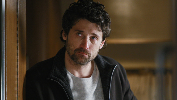"GREY'S ANATOMY - ""Stand By Me"" - Derek's spirit is broken after he realizes how many patients he's lost, and he's retreated to his trailer in the woods, on ""Grey's Anatomy,"" THURSDAY, MARCH 19 (9:00-10:02 p.m., ET) on the ABC Television Network. (ABC/MICHAEL DESMOND) PATRICK DEMPSEY"