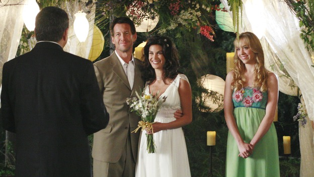 "DESPERATE HOUSEWIVES - ""Getting Married Today"" - A double wedding for two desperate housewives, Bree and Orson Hodge return to wisteria lane, and Lynette's estranged mother shows up on her doorstep, on the Season Finale of ""Desperate Housewives,"" SUNDAY, MAY 20 (9:00-10:02 p.m., ET) on the ABC Television Network. (ABC/RON TOM)STEVE TYLER, JAMES DENTON, TERI HATCHER, ANDREA BOWEN"