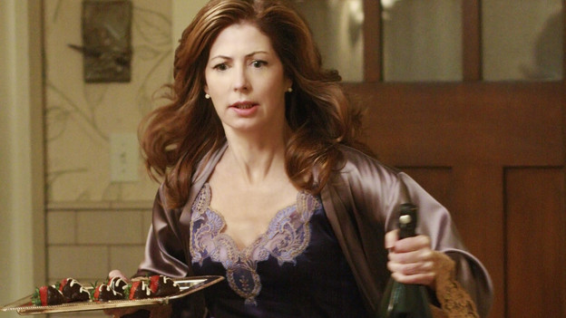 DESPERATE HOUSEWIVES - &quot;Don't Walk on the Grass&quot; - Rules were made to be broken, on ABC's &quot;Desperate Housewives,&quot; SUNDAY, NOVEMBER 1 (9:00-10:01 p.m., ET). Bree begins to fall for Karl and drifts further from Orson; Katherine continues her sad attempts at seducing Mike, as her conflict with Susan grows; Gaby gets Juanita expelled from school; Lynette learns Tom is cheating on his mid-term, and Angie hides the truth about her mother. (ABC/RON TOM)DANA DELANY
