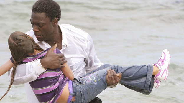 "LOST - ""The Other 48 Days"" - Mr. Eko rescues fellow tail section survivor, Emma, from the water. The harrowing first 48 days in the lives of the tail section survivors are revealed. (ABC/MARIO PEREZ) KIERSTEN HAVELOCK, ADEWALE AKINNUOYE-AGBAJE"