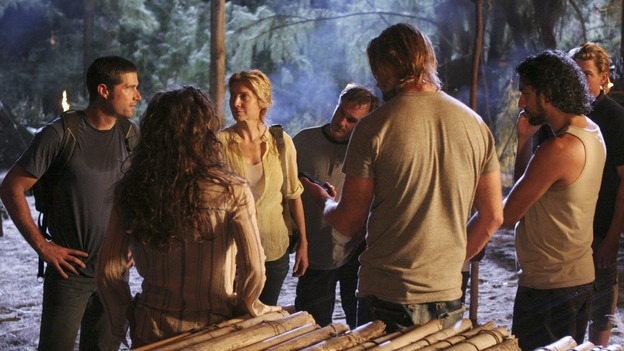 "LOST - ""The Man Behind the Curtain"" - Ben begrudgingly begins to introduce Locke to the secrets of the island, beginning with the mysterious Jacob. Meanwhile, Juliet's secret goes public, on ""Lost,"" WEDNESDAY, MAY 9 (10:00-11:00 p.m., ET), on the ABC Television Network. (ABC/MARIO PEREZ)MATTHEW FOX, EVANGELINE LILLY, ELIZABETH MITCHELL, JOSH HOLLOWAY, NAVEEN ANDREWS"