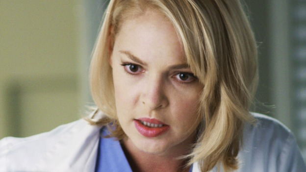 GREY'S ANATOMY - &quot;An Honest Mistake&quot; - Izzie realizes that Sadie made a mistake in the clinic paperwork and her test results were switched with another woman's. Izzie isn't anemic, she has cancer, on &quot;Grey's Anatomy&quot; THURSDAY, FEBRUARY 19 (9:00-10:02 p.m., ET) on the ABC Television Network. (ABC/RON TOM) KATHERINE HEIGL