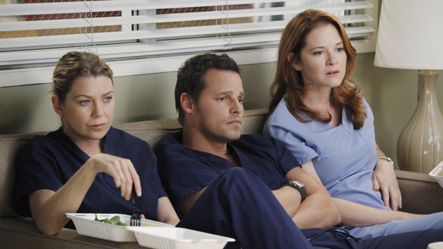 GREY'S ANATOMY - &quot;Remember the Time&quot; - (ABC/RICHARD CARTWRIGHT)ELLEN POMPEO, JUSTIN CHAMBERS, SARAH DREW
