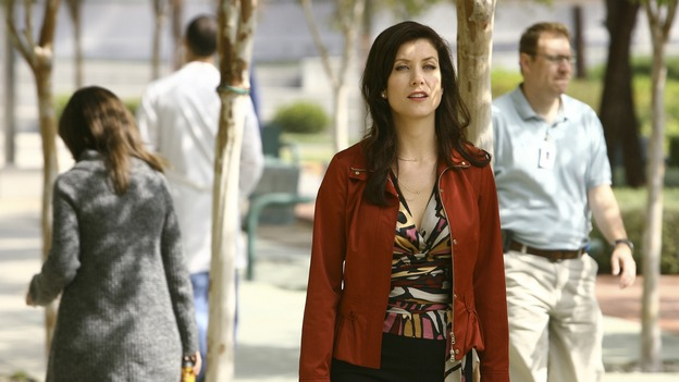 "GREY'S ANATOMY - ""Piece of My Heart"" - Addison returns to Seattle Grace to perform an operation and is taken aback by all of the changes in her old co-workers' lives. Meanwhile Meredith and Derek's clinical trial has its first patient, and Rebecca/Ava returns with shocking news for Alex, on ""Grey's Anatomy,"" THURSDAY, MAY 1 (9:00-10:01 p.m., ET) on the ABC Television Network.  (ABC/SCOTT GARFIELD)KATE WALSH"