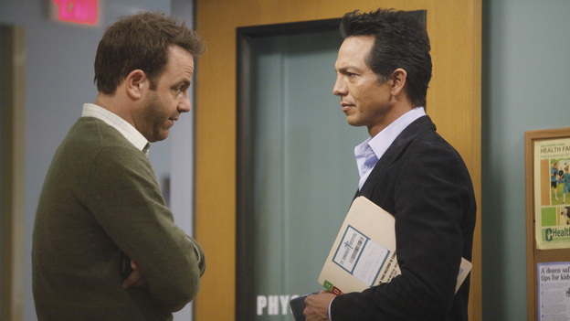 PRIVATE PRACTICE - &quot;Too Much&quot; - Sam finds his estranged sister, Corinne, in jail, heavily medicated and near-catatonic, and brings her to Sheldon for help; Erica begins secret treatments for her cancer and refuses to let Cooper and Charlotte tell Mason; Cooper, Pete and Addison treat the baby of a drug addict; and things between Violet and Scott continue to heat up in the bedroom, &quot;on ABC's &quot;Private Practice&quot; THURSDAY, FEBRUARY 9 (10:02-11:00 p.m., ET) on the ABC Television Network. (ABC/VIVIAN ZINK)BENJAMIN BRATT, PAUL ADELSTEIN
