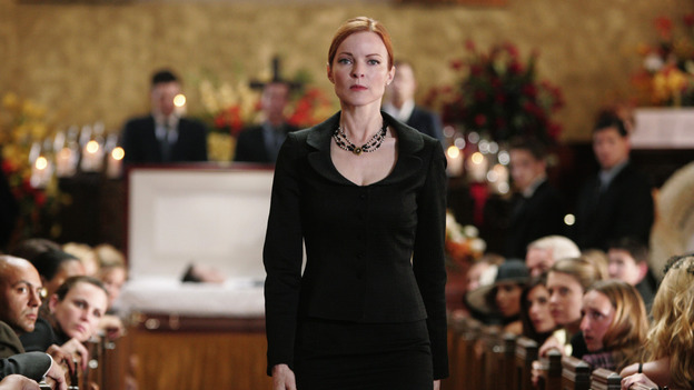 "DESPERATE HOUSEWIVES ""Next"" - Bree at her first husband Rex's funeral - (ABC/VIVIAN ZINK) MARCIA CROSS"