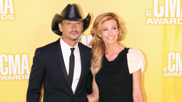 "THE 46TH ANNUAL CMA AWARDS - RED CARPET ARRIVALS - ""The 46th Annual CMA Awards"" airs live THURSDAY, NOVEMBER 1 (8:00-11:00 p.m., ET) on ABC live from the Bridgestone Arena in Nashville, Tennessee. (ABC/SARA KAUSS)TIM MCGRAW, FAITH HILL"