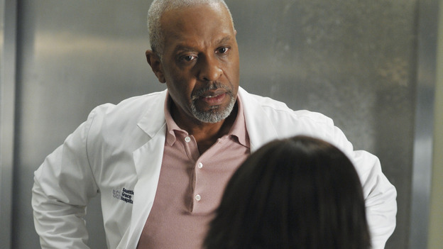 "GREY'S ANATOMY - ""Here Comes the Flood"" - A plumbing leak becomes a deluge and wreaks havoc at Seattle Grace, as the Chief attempts to implement new teaching policies and George tries to retake his residency exam; meanwhile Derek hopes to move the roommates out of Meredith's house, to their surprise, on ""Grey's Anatomy,"" THURSDAY, OCTOBER 9 (9:00-10:01 p.m., ET) on the ABC Television Network. (ABC/ERIC McCANDLESS)JAMES PICKENS JR., CHANDRA WILSON"