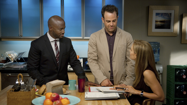 PRIVATE PRACTICE - &quot;Aftershock&quot; - Addison settles into her new life after making a decision between Jake and Sam; Violet fears the worst when Pete doesn't show up to his preliminary court hearing; and Charlotte swears Cooper to secrecy when she receives shocking news. Meanwhile, Amelia celebrates one year of sobriety and Sheldon rekindles a romance with his ex-wife, on the sixth-season premiere of &quot;Private Practice,&quot; TUESDAY, SEPTEMBER 25 (10:00-11:00 p.m., ET) on the ABC Television Network. (ABC/COLLEEN HAYES)TAYE DIGGS, PAUL ADELSTEIN, KADEE STRICKLAND