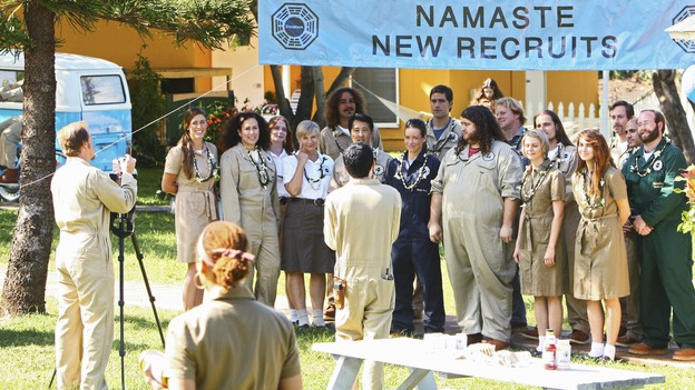 "LOST - ""Namaste"" - When some old friends drop in unannounced, Sawyer is forced to further perpetuate his lie in order to protect them, on ""Lost,"" WEDNESDAY, MARCH 18 (9:00-10:02 p.m., ET) on the ABC Television Network. (ABC/MARIO PEREZ)EVANGELINE LILLY, MATTHEW FOX, JORGE GARCIA"