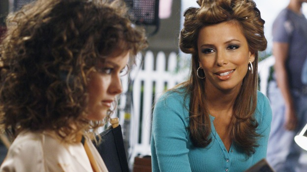 "DESPERATE HOUSEWIVES - ""Children and Art"" - Gabrielle decides to get back into the world of modeling, and tries to make nice with the competition. SUNDAY, NOVEMBER 12 (9:00-10:01 p.m., ET) on the ABC Television Network. (ABC/RON TOM) ALLISON MILLER, EVA LONGORIA"