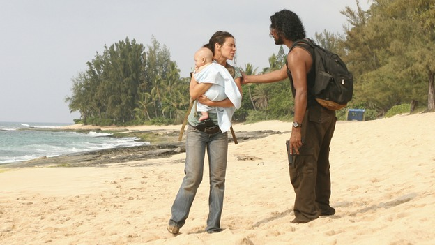 "LOST - ""There's No Place Like Home,"" Part 1 - The face-off between the survivors and the freighter people begins, on ""Lost,"" THURSDAY, MAY 15 (10:02-11:00 p.m., ET) on the ABC Television Network.  (ABC/MARIO PEREZ)EVANGELINE LILY, NAVEEN ANDREWS"