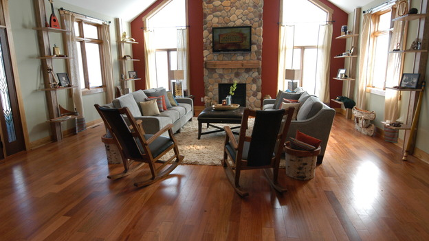 EXTREME MAKEOVER HOME EDITION - &quot;DeVries Family,&quot; - Living Room, on &quot;Extreme Makeover Home Edition,&quot; Sunday, December 7th on the ABC Television Network.