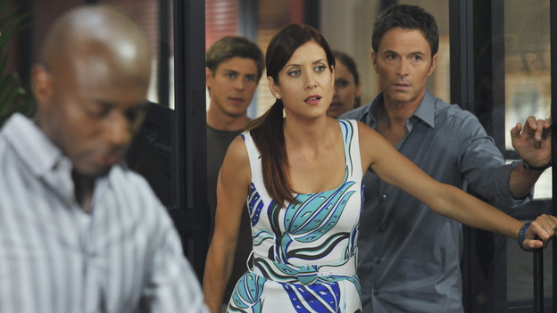 "PRIVATE PRACTICE - ""Past Tense"" - An office election pits Sam and Naomi against each other to lead the practice, and ends with surprising results, while Addison treats a young Afghan girl who wants to hide her past, and Cooper's objectionable personal life catches up with his professional one, on ""Private Practice,"" WEDNESDAY, OCTOBER 29 (9:00-10:01 p.m., ET) on the ABC Television Network. (ABC/ERIC McCANDLESS)TAYE DIGGS, CHRIS LOWELL, KATE WALSH, AMY BRENNEMAN (OBSCURED), TIM DALY"