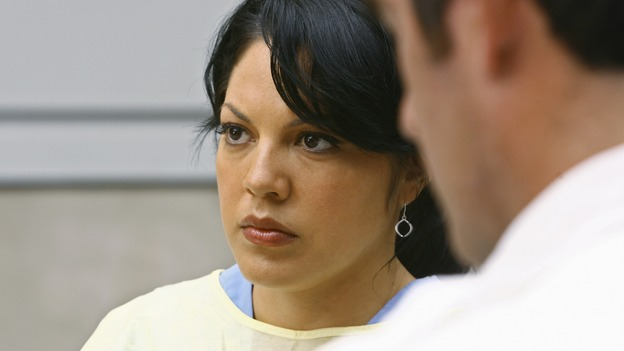 "GREY'S ANATOMY - ""Now or Never"" - Dr. Callie Torres waits for a new trauma to come in, on ""Grey's Anatomy,"" THURSDAY, MAY 14 (9:00-11:00 p.m., ET) on the ABC Television Network. SARA RAMIREZ"