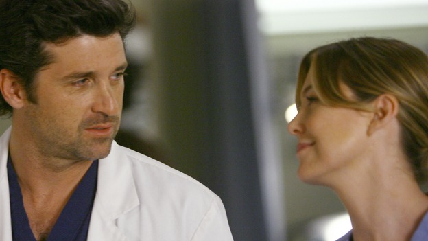GREY'S ANATOMY - &quot;Dream a Little Dream of Me&quot; - Meredith is thinking of asking Derek to move in with her, on &quot;Grey's Anatomy,&quot; THURSDAY, SEPTEMBER 25 (9:00-11:00 p.m., ET) on the ABC Television Network. (ABC/SCOTT GARFIELD) PATRICK DEMPSEY, ELLEN POMPEO