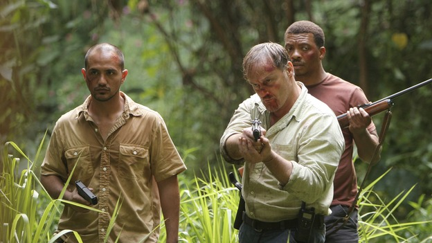 "LOST - Awarded the 2005 Emmy and 2006 Golden Globe for best drama series, and a 2007 Golden Globe nomination for best drama series and best actress for Evangeline Lilly, ""Lost"" returns for the second act of its third season of action-packed mystery and adventure -- that will continue to bring out the very best and the very worst in the people who are lost -- WEDNESDAY, FEBRUARY 7 (10:00-11:00 p.m., ET), on the ABC Television Network. In the return episode, ""Not in Portland,"" Jack is in command as the fate of Ben's life literally rests in his hands. Meanwhile, Kate and Sawyer find an ally in one of ""The Others,"" and Juliet makes a shocking decision that could endanger her standing with her people. (ABC/MARIO PEREZ)ARISTON GREEN, MICHAEL BOWEN, TEDDY WELLS"