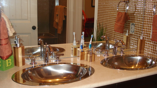 EXTREME MAKEOVER HOME EDITION - &quot;O'Donnell Family,&quot; -  Bathroom, on &quot;Extreme Makeover Home Edition,&quot; Sunday, February 18th on the ABC Television Network.