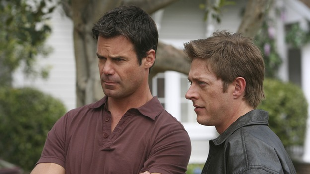 "DESPERATE HOUSEWIVES - ""Opening Doors"" - Lee and Bob are less than pleased with Ellie, on ""Desperate Housewives,"" SUNDAY, MAY 4 (9:00-10:02 p.m., ET) on the ABC Television Network.  (ABC/DANNY FELD) TUC WATKINS, KEVIN RAHM"