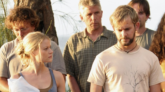 "LOST -- ""Three Minutes"" - A determined Michael convinces Jack and several castaways to help him rescue Walt from ""The Others."" Meanwhile, Charlie struggles with Eko's decision to discontinue building the church, on ""Lost,"" WEDNESDAY, MAY 17 (9:00-10:01 p.m., ET), on the ABC Television Network. (ABC/MARIO PEREZ)EMILIE DE RAVIN, DOMINIC MONAGHAN"