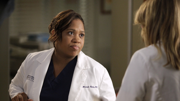 "GREY'S ANATOMY - ""Beautiful Doom"" - In this Meredith & Cristina-centric episode, the two friends continue to cope with life after the plane crash and their ever-growing responsibilities at their respective hospitals. As Meredith juggles taking care of Zola with a case that hits close to home, Cristina assists Dr. Thomas on a challenging heart surgery, on ""Grey's Anatomy,"" THURSDAY, NOVEMBER 8 (9:00-10:02 p.m., ET) on the ABC Television Network. (ABC/KELSEY MCNEAL)CHANDRA WILSON"