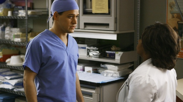 "GREY'S ANATOMY - ""Now or Never"" - Dr. George O'Malley breaks the news to Dr. Miranda Bailey that he has joined the U.S. Army, on ""Grey's Anatomy,"" THURSDAY, MAY 14 (9:00-11:00 p.m., ET) on the ABC Television Network. T.R. KNIGHT, CHANDRA WILSON"