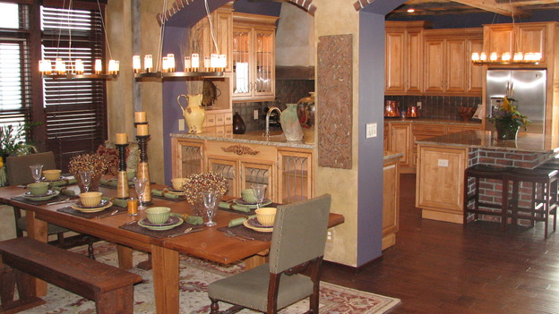 "EXTREME MAKEOVER HOME EDITION - ""Fullerton-Machacek Family,"" - Dining Rooms, on ""Extreme Makeover Home Edition,"" Sunday, January 7th on the ABC Television Network."