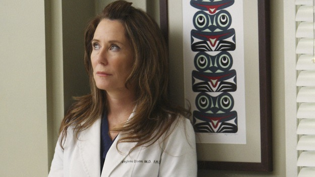 "GREY'S ANATOMY - ""All By Myself"" - Dr. Virginia Dixon, on ""Grey's Anatomy,"" THURSDAY, DECEMBER 4 (9:00-10:01 p.m., ET) on the ABC Television Network. (ABC/CRAIG SJODIN) MARY MCDONNELL, SANDRA OH"