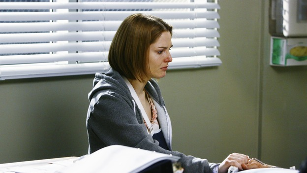 "GREY'S ANATOMY - ""Now or Never"" - Patient Amanda waits at the bedside of ""John Doe,"" the man who was seriously injured saving her life, on ""Grey's Anatomy,"" THURSDAY, MAY 14 (9:00-11:00 p.m., ET) on the ABC Television Network. SHANNON LUCIO"