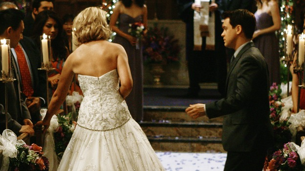 "GREY'S ANATOMY - ""What a Difference a Day Makes"" - George helps his best friend, Izzie, down the aisle for her wedding to Alex, on ""Grey's Anatomy,"" THURSDAY, MAY 7 (9:00-10:02 p.m., ET) on the ABC Television Network. KATHERINE HEIGL, SANDRA OH, MICKEY MAXWELL, JUSTIN CHAMBERS, T.R. KNIGHT, ELLEN POMPEO"