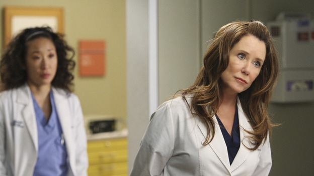"GREY'S ANATOMY - ""All By Myself"" - Cristina is placed in charge of helping liase between the odd Dr. Virginia Dixon and her patients, on ""Grey's Anatomy,"" THURSDAY, DECEMBER 4 (9:00-10:01 p.m., ET) on the ABC Television Network. (ABC/CRAIG SJODIN) SANDRA OH, MARY MCDONNELL"
