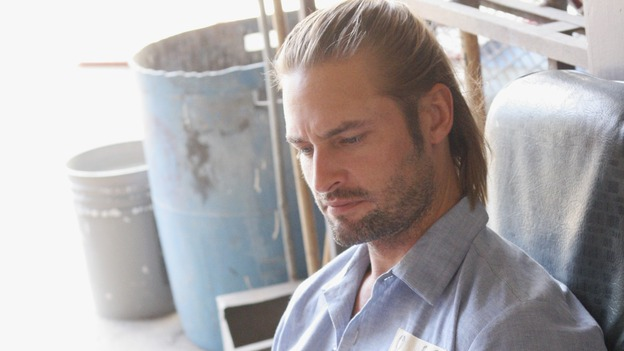 LOST - &quot;Every Man for Himself&quot; - Sawyer discovers just how far his captors will go to thwart any plans of escape he and Kate might have, and Jack is called upon to scrub up in order to save the life of one of &quot;The Others.&quot; Meanwhile, Desmond's behavior begins to perplex the survivors when he starts construction on an unknown device, on &quot;Lost,&quot; WEDNESDAY, OCTOBER 25 (9:00-10:01 p.m., ET), on the ABC Television Network. (ABC/MARIO PEREZ)JOSH HOLLOWAY