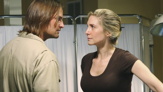 LOST - &quot;LaFleur&quot; - Sawyer perpetuates a lie with some of the other island survivors in order to protect themselves from mistakes of the past, on &quot;Lost,&quot; WEDNESDAY, MARCH 4 (9:00-10:02 p.m., ET) on the ABC Television Network. (ABC/MARIO PEREZ)ELIZABETH MITCHELL, JOSH HOLLOWAY