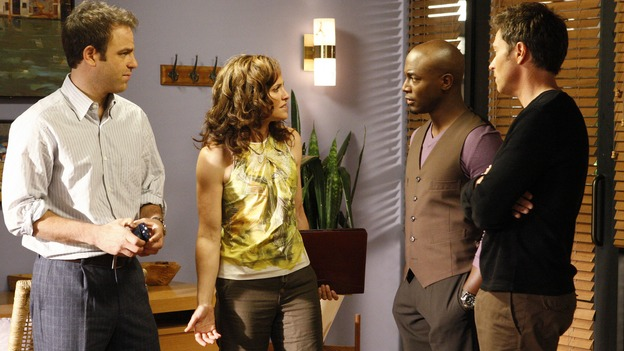"PRIVATE PRACTICE - ""A Family Thing"" - At Oceanside Wellness, friendships are tested and secrets revealed when Addison discovers that Naomi is concealing the practice's financial problems. Meanwhile, Violet wonders what secret Cooper is keeping from her, while Cooper himself has to decide whether or not to reveal a medical secret to a patient, on the season premiere of ""Private Practice,"" WEDNESDAY, OCTOBER 1 (9:00-10:01 p.m., ET) on the ABC Television Network. (ABC/VIVIAN ZINK)PAUL ADELSTEIN, AMY BRENNEMAN, TAYE DIGGS, TIM DALY"