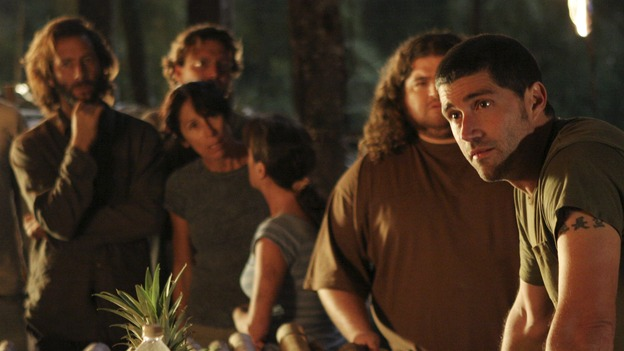 "LOST - ""One of Us"" - Jack's joyous reunion with his fellow survivors is cut short when they realize that accompanying him is one of ""The Others,"" and Claire is stricken by a mysterious, life-threatening illness, on ""Lost,"" WEDNESDAY, APRIL 11 (10:00-11:00 p.m., ET), on the ABC Television Network. (ABC/MARIO PEREZ)HENRY IAN CUSICK, JORGE GARCIA, MATTHEW FOX"